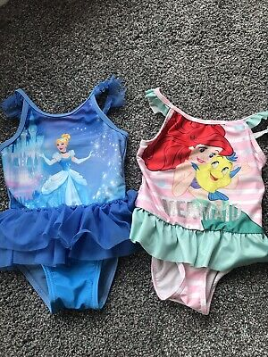 Girls Mothercare Disney Swimsuit / Costume 18/24 Months