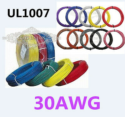 UL1007 30AWG Cable Cord Stranded Flexible Hookup DIY Electronic Wire Strip 5M