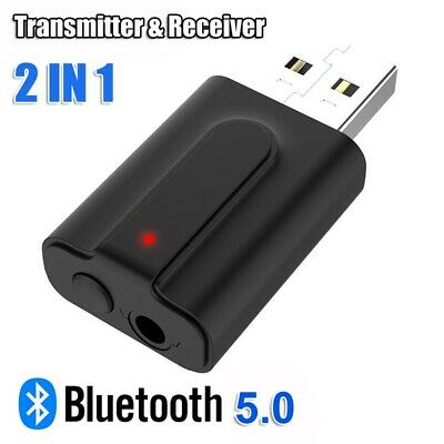 2in1 USB Bluetooth 5.0 Wireless Receiver Transmitter for For Speakers Headphone
