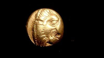 LESBOS. MYTILENE. 521-478 BC. 1/6 Electrum STATER, Lion's head. Calf head.