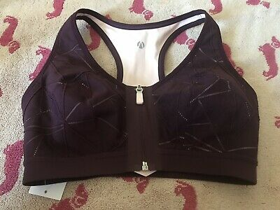 M&S COLLECTION  Post Surgery Extra High Impact Non-Wired Sports Bra Blackcurrant
