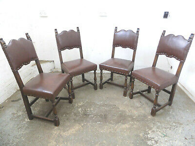 four,vintage,oak,dining chairs,rexine seats,chairs,church,restoration,carved