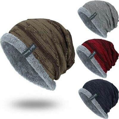 34764e869 WINTER BEANIES SLOUCHY Chunky Hat for Men Women Warm Soft Skull ...