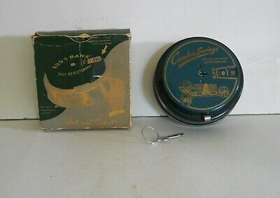 Vintage Mechanical Coin  Add-O-Bank  W/Cambria Savings Johnstown,Pa Advertising