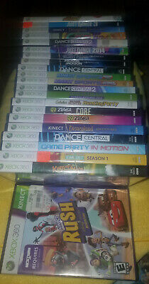 Many Different Kinect Games Sold seperatly (Microsoft Xbox 360)