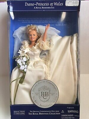 Diana Princess of Wales Doll 1997 Royal Britannia Collection in Bridal Gown