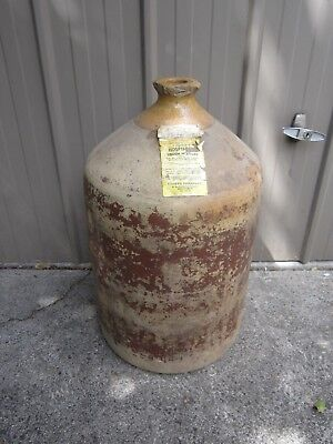 Medical Pharmacy Collectable Vintage Demijohn Pottery With Label.
