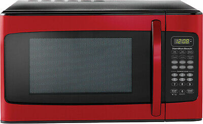 Hamilton Beach 1.1 Cu. Ft. Red Microwave