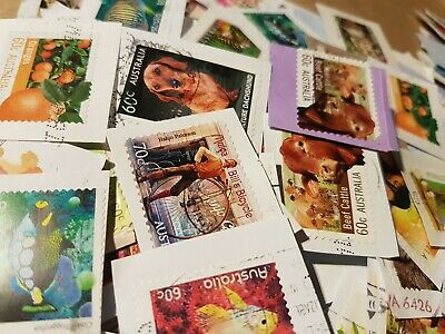 800+ Australian used stamps High Value-only kiloware bulk not unfranked but ...
