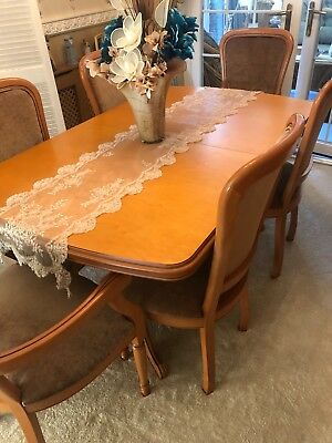 Rossmere 6 Seat Large Dining Room Table With Chairs