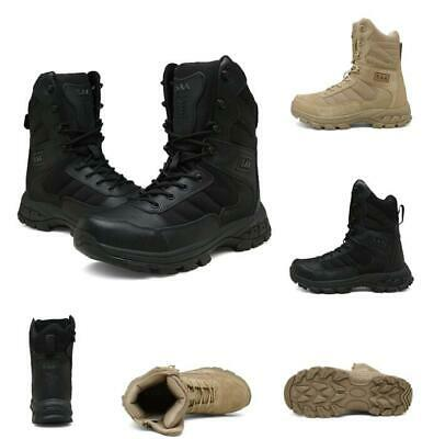 5f662e05fb9 US TACTICAL LEATHER Combat Military Ankle Boots Men Army Shoes Cheap ...