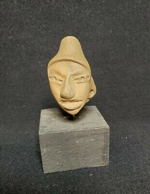 Pre-Columbian Huastec figure head fragment. Ca. 600 ad.