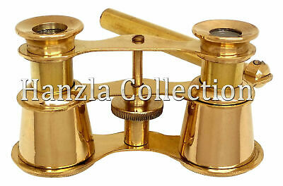 Polished Brass Opera Glasses Binocular Nautical Maritime Telescope Pocket Gift