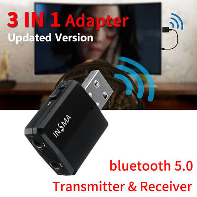 V5.0 Wireless bluetooth Receiver Audio Adapter Transmitter 3.5mm Music AUX Car