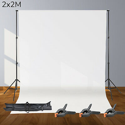 2x2M Photography Photo Studio Background Support Stand Kit Screen Backdrop Set