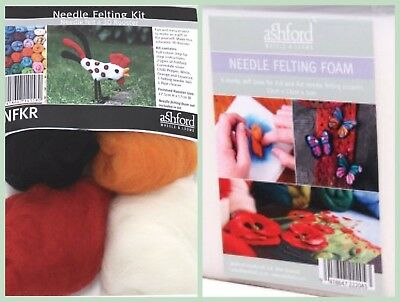 Adorable Needle Felting 3D Rooster Kit AND Needle Felting Foam by ASHFORD | NEW