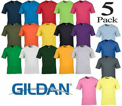 Pack of 3 and 5 Gildan Men's Soft-Style Short Sleeve Best Quality Mens T-Shirt