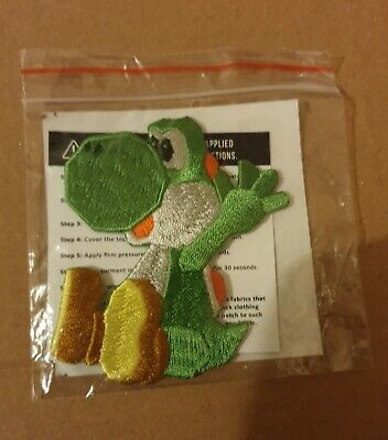 Yoshi's Crafted World Embroidered Patch and Sticker Sheet Rare Limited Edition