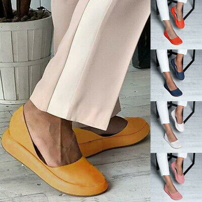 8f54017345077 Womens Ladies Loafers Leather Loafer Mules Backless Casual Slider Flats  Sandals