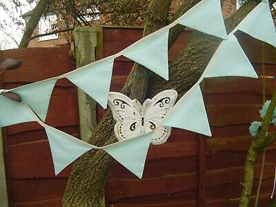 Fabric Bunting Wedding Birthday Party Christening double sided cotton 3 Metres