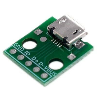 10Pcs Micro-Usb To Dip Adapter 5Pin Female Connector B Type Pcb Converter A7X1
