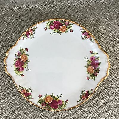 Royal Albert Old Country Roses Cake Plate Sandwich Platter Vintage China