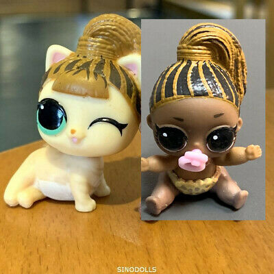 Lot 2 LOL Surprise Doll LIL FIERCE MEOW KITTY Baby & Pet MAKEOVER toy Authentic