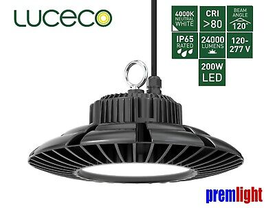 Bg Luceco Ip65 200W Led Ufo High Bay 120º Beam 4000K - Lhbcblm2440N120
