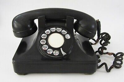 Vintage North Electric Pyramid Phone Bakelite Desk Telephone Rotary Dial AS-IS