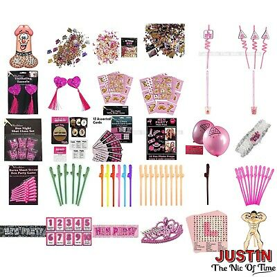 HEN PARTY NIGHT DO ACCESSORIES Games, Balloons, Head Boppers, Photo Props Etc