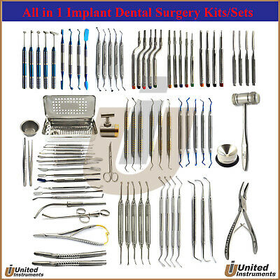 All in 1 Implant Surgical Instruments Kits PRF Membrane -Osteotome-Tunneling Kit
