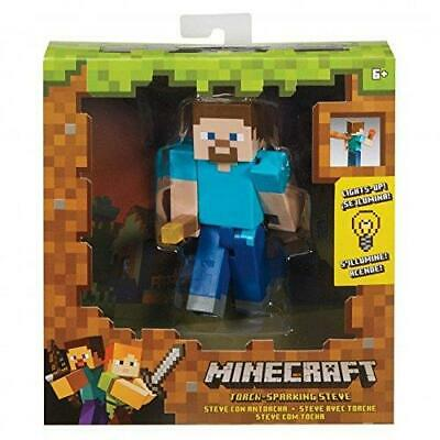 Minecraft FMF58 Light Up Steve Feature Action Figure Toy