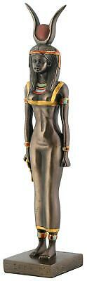 Ancient Egyptian Goddess Isis Statue Bronze Finish Resin Collectable Figurine