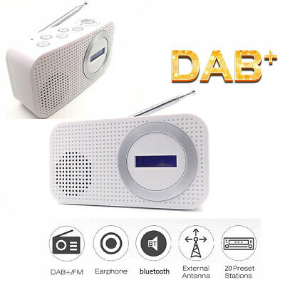 Portable DAB/DAB+Radio bluetooth Digital Pocket FM RDS LED Speaker AUX Input SMT