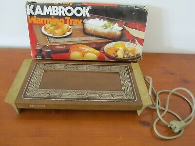 Vintage Retro Food Hot Plate Warming Tray Kambrook Entertaining Indoor Outdoor B