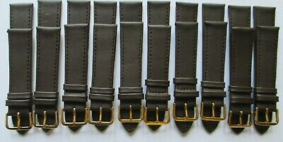 WHOLESALE JOB LOTS of 10 Genuine Leather 20mm WATCH STRAPS