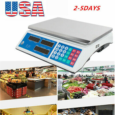 66Lb Digital Weight Scale Price Computing Retail Food Meat Scales Count Counting