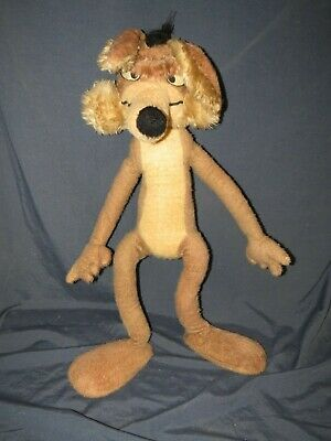Vintage Wile E Coyote Large Plush Stuffed Warner 1971 Mighty Star Looney Tunes