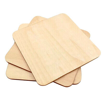 5/100pcs MDF Unfinished Wood Wooden Pieces Blank Plaque For DIY Craft 20-140mm
