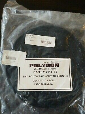 Black Softcinch VELCRO® Brand Polywrap Bulk 75 Foot Roll