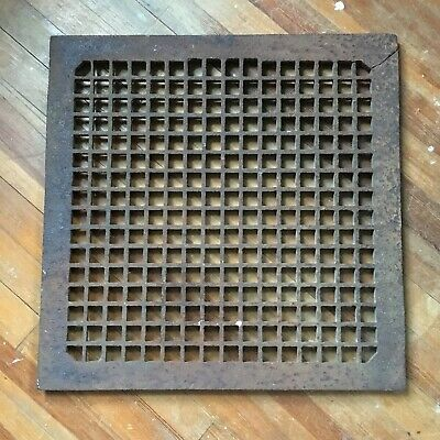 Vintage Cast Iron Grate • From New York City • Industrial Decor