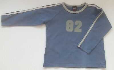 Next Boys Blue Long Sleeved Top Cotton T-Shirt Age 4 104cm Height