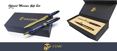 United States Marine Corps Gift Set-Ballpoint Pen & Letter Opener with Gift Box