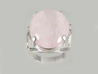 18thC Antique 19ct Rose Quartz Ring Roman-Assyrian Love Gem Greek Eros Cupid