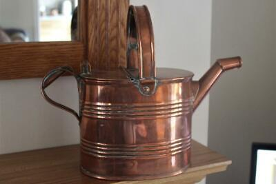 A Beautiful Large Antique Copper Watering Can Good Solid Piece Not A Cheap Copy