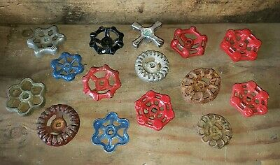 Vtg Metal Aluminum Water Gas Valve Spicket Spigot Knobs Handles Steam Punk Lot Q