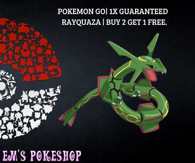 Pokemon Go | Guaranteed Rayquaza Catch! Buy 2 Get 1 Free! BAN/HACK FREE