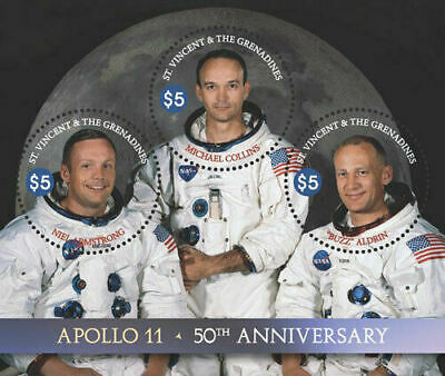vincent 2018 APOLLO 11 space 50th anniversary moon ARMSTRONG BUZZ COLLINS  ms3v