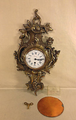 Vintage French Look Cartel Clock Circle Watch Corp England Running