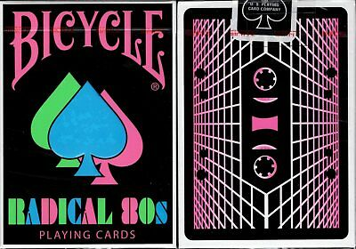 Radical 80s v2 Bicycle Playing Cards Poker Size Deck USPCC Custom Limited New